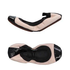 Yosi Samra foldable ballet flats pink black 5